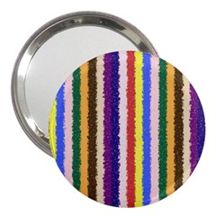 Vivid Colors Curly Stripes   1 3  Handbag Mirror