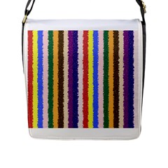 Vivid Colors Curly Stripes   1 Flap Closure Messenger Bag (large)