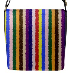 Vivid Colors Curly Stripes   1 Flap Closure Messenger Bag (small)