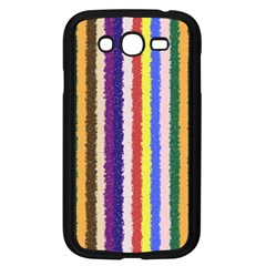 Vivid Colors Curly Stripes - 1 Samsung Galaxy Grand DUOS I9082 Case (Black)