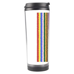 Vivid Colors Curly Stripes   1 Travel Tumbler