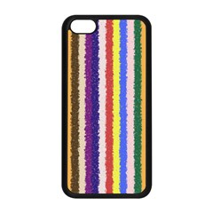 Vivid Colors Curly Stripes - 1 Apple iPhone 5C Seamless Case (Black)
