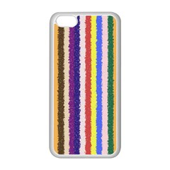 Vivid Colors Curly Stripes - 1 Apple iPhone 5C Seamless Case (White)