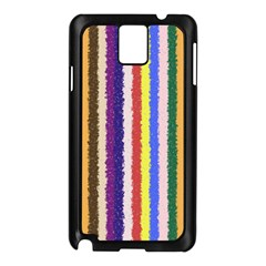 Vivid Colors Curly Stripes - 1 Samsung Galaxy Note 3 N9005 Case (Black)
