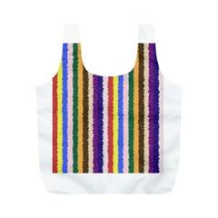 Vivid Colors Curly Stripes - 1 Reusable Bag (M)
