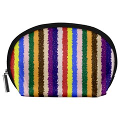 Vivid Colors Curly Stripes - 1 Accessory Pouch (Large)