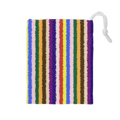 Vivid Colors Curly Stripes   1 Drawstring Pouch (large)