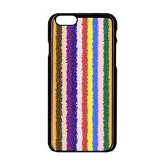 Vivid Colors Curly Stripes - 1 Apple iPhone 6 Black Enamel Case