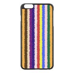 Vivid Colors Curly Stripes   1 Apple Iphone 6 Plus Black Enamel Case