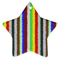 Vivid Colors Curly Stripes - 2 Star Ornament