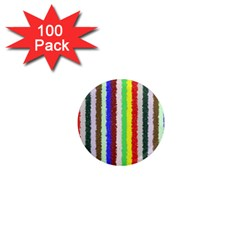 Vivid Colors Curly Stripes - 2 1  Mini Button Magnet (100 pack)
