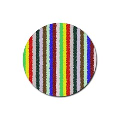 Vivid Colors Curly Stripes   2 Drink Coasters 4 Pack (round)
