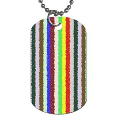 Vivid Colors Curly Stripes   2 Dog Tag (one Sided)