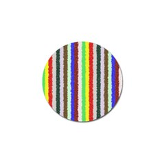 Vivid Colors Curly Stripes   2 Golf Ball Marker 10 Pack