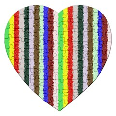 Vivid Colors Curly Stripes - 2 Jigsaw Puzzle (Heart)