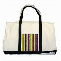 Vivid Colors Curly Stripes - 2 Two Toned Tote Bag