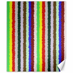 Vivid Colors Curly Stripes - 2 Canvas 8  x 10  (Unframed)
