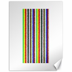 Vivid Colors Curly Stripes   2 Canvas 18  X 24  (unframed)