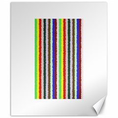 Vivid Colors Curly Stripes   2 Canvas 20  X 24  (unframed)