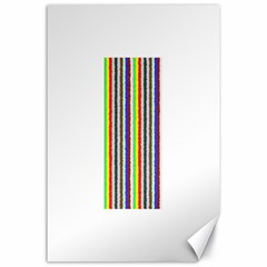 Vivid Colors Curly Stripes   2 Canvas 24  X 36  (unframed)