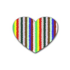 Vivid Colors Curly Stripes   2 Drink Coasters 4 Pack (heart)