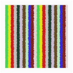 Vivid Colors Curly Stripes - 2 Glasses Cloth (Medium, Two Sided)