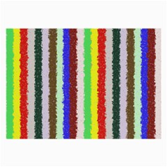 Vivid Colors Curly Stripes - 2 Glasses Cloth (Large, Two Sided)