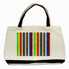 Vivid Colors Curly Stripes   2 Twin Sided Black Tote Bag
