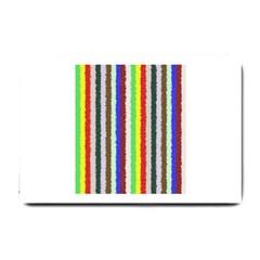 Vivid Colors Curly Stripes   2 Small Door Mat