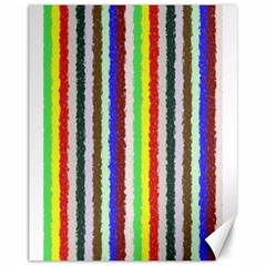 Vivid Colors Curly Stripes - 2 Canvas 11  x 14  (Unframed)
