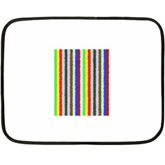 Vivid Colors Curly Stripes - 2 Mini Fleece Blanket (Two Sided)