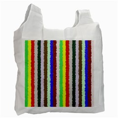 Vivid Colors Curly Stripes   2 White Reusable Bag (two Sides)