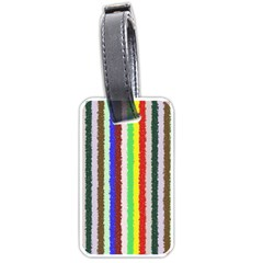 Vivid Colors Curly Stripes - 2 Luggage Tag (One Side)