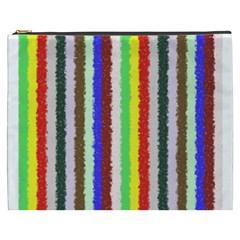 Vivid Colors Curly Stripes - 2 Cosmetic Bag (XXXL)