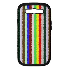 Vivid Colors Curly Stripes   2 Samsung Galaxy S Iii Hardshell Case (pc+silicone)
