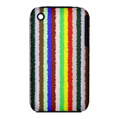 Vivid Colors Curly Stripes - 2 Apple iPhone 3G/3GS Hardshell Case (PC+Silicone)
