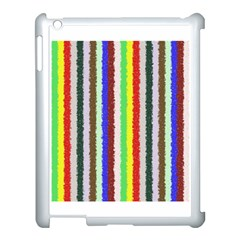 Vivid Colors Curly Stripes   2 Apple Ipad 3/4 Case (white)