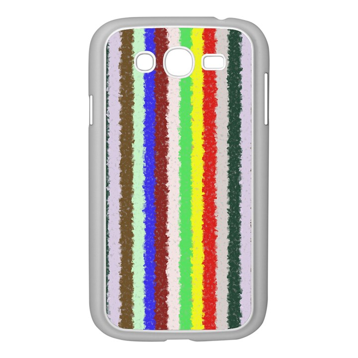 Vivid Colors Curly Stripes - 2 Samsung Galaxy Grand DUOS I9082 Case (White)