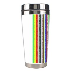 Vivid Colors Curly Stripes - 2 Stainless Steel Travel Tumbler