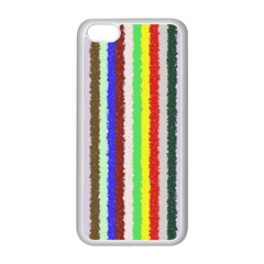 Vivid Colors Curly Stripes   2 Apple Iphone 5c Seamless Case (white)