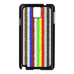 Vivid Colors Curly Stripes - 2 Samsung Galaxy Note 3 N9005 Case (Black)