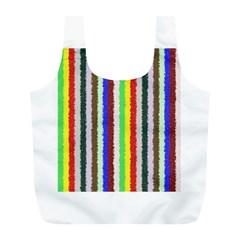 Vivid Colors Curly Stripes - 2 Reusable Bag (L)