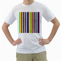 Vivid Colors Curly Stripes - 2 Men s T-Shirt (White)