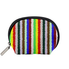 Vivid Colors Curly Stripes - 2 Accessory Pouch (Small)