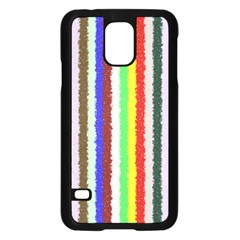 Vivid Colors Curly Stripes - 2 Samsung Galaxy S5 Case (Black)