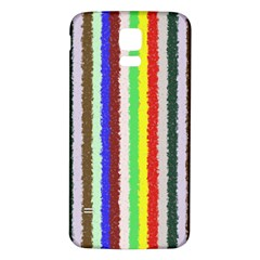 Vivid Colors Curly Stripes - 2 Samsung Galaxy S5 Back Case (White)