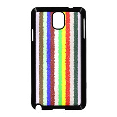 Vivid Colors Curly Stripes - 2 Samsung Galaxy Note 3 Neo Hardshell Case (Black)