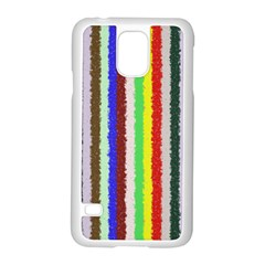 Vivid Colors Curly Stripes - 2 Samsung Galaxy S5 Case (White)
