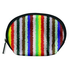 Vivid Colors Curly Stripes - 2 Accessory Pouch (Medium)