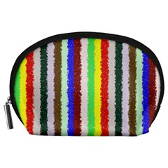 Vivid Colors Curly Stripes   2 Accessory Pouch (large)